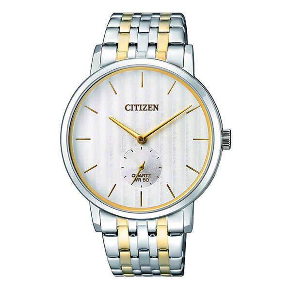 Citizen Quartz Two Tone Stainless Steel Band Watch BE9174-55A