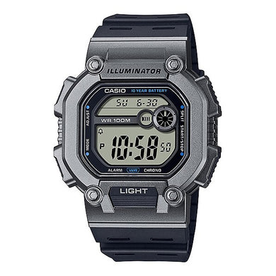 Casio Digital Black Resin Band Watch W737H-1A2 W-737H-1A2