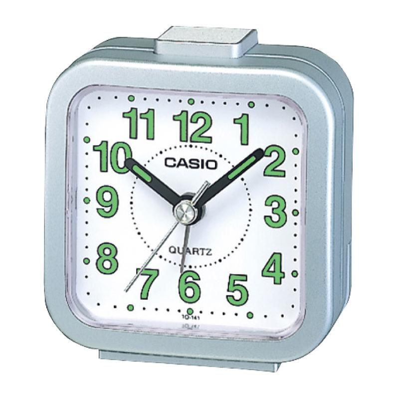 Casio Standard Traveller's Silver Resin Table Clock TQ141-8D TQ-141-8D TQ-141-8