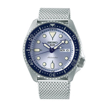 Load image into Gallery viewer, Seiko 5 Sports Automatic Silver Stainless Steel Mesh Band Watch SRPE77K1
