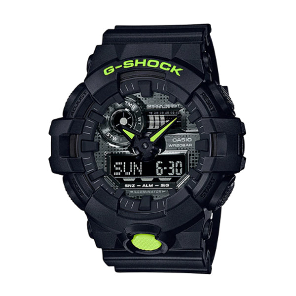 Casio G-Shock GA-700 Lineup Special Color Models Black Resin Band Watch GA700DC-1A GA-700DC-1A