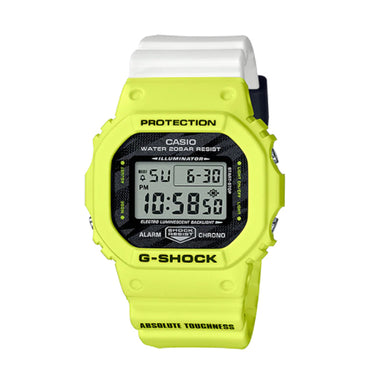 Casio G-Shock DW-5600 Lineup Special Colour Model Two Tone Resin Band Watch DW5600TGA-9D DW-5600TGA-9D DW-5600TGA-9