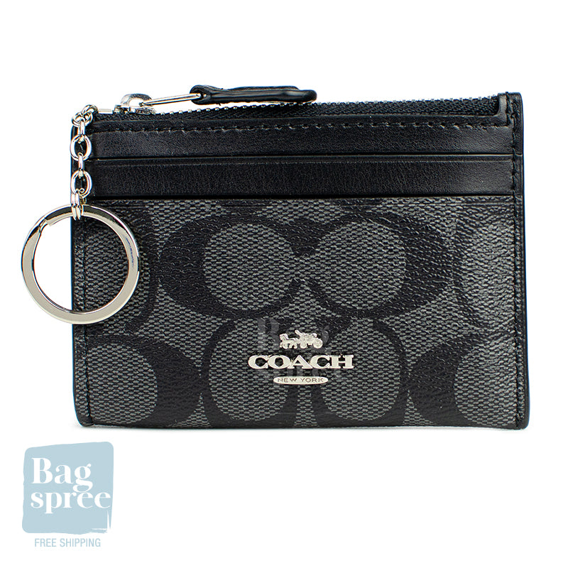 Coach Mini Skinny ID Case Black F88208 SVDK6
