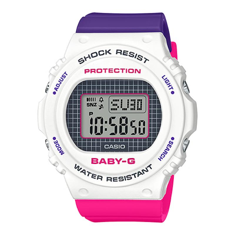 Casio Baby-G BGD-570 Lineup Special Color Models Purple and Pink Resin Band Watch BGD570THB-7D BGD-570THB-7D BGD-570THB-7