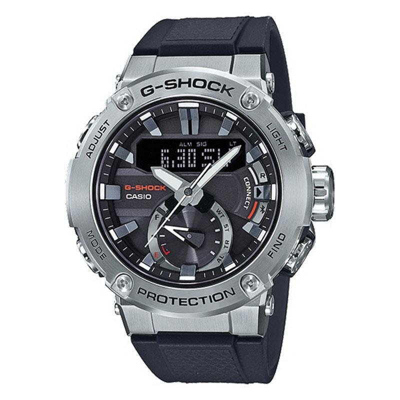 Casio G-Shock G-Steel Carbon Core Guard Structure Black Resin Band Watch GSTB200-1A GST-B200-1A | Watchspree