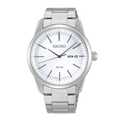 Seiko Solar Silver Stainless Steel Band Watch SNE523P1 | Watchspree