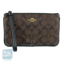 Load image into Gallery viewer, Coach Large Wristlet In Signature Canvas Brown F58695 IMAA8