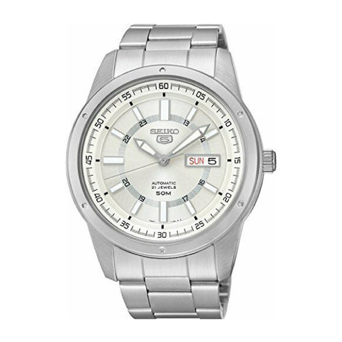 Seiko 5 Sports (Japan Made) Automatic Silver Stainless Steel Band Watch SNKN09J1