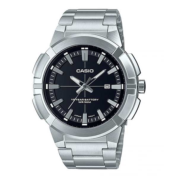 Casio Men's Analog Stainless Steel Band Watch MTPE172D-1A MTP-E172D-1A