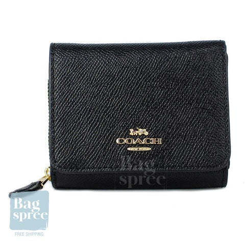 Coach Small Trifold Wallet Black F37968 IMBLK