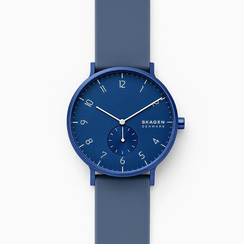 Skagen Men's Aaren Kulor Dusty Blue Silicone 41mm Watch SKW6589