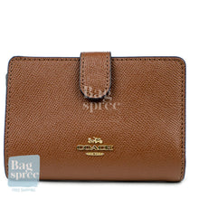 Load image into Gallery viewer, Coach Medium Corner Zip Wallet Brown F11484 IMEB0