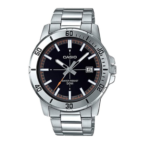 Casio Men's Diver Look Silver Stainless Steel Band Watch MTPVD01D-1E2 MTP-VD01D-1E2