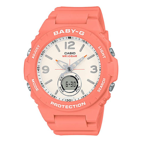 Casio Baby-G Standard Analog-Digital Orange Resin Band Watch BGA260-4A BGA-260-4A