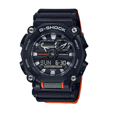 Casio G-Shock GA-900 Lineup Orange Cloth Band Watch GA900C-1A4 GA-900C-1A4