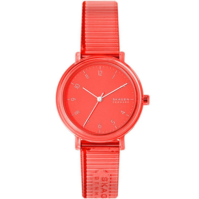 Skagen Ladies's Quartz Pink Polyurethane Strap Watch SKW2856 | Watchspree