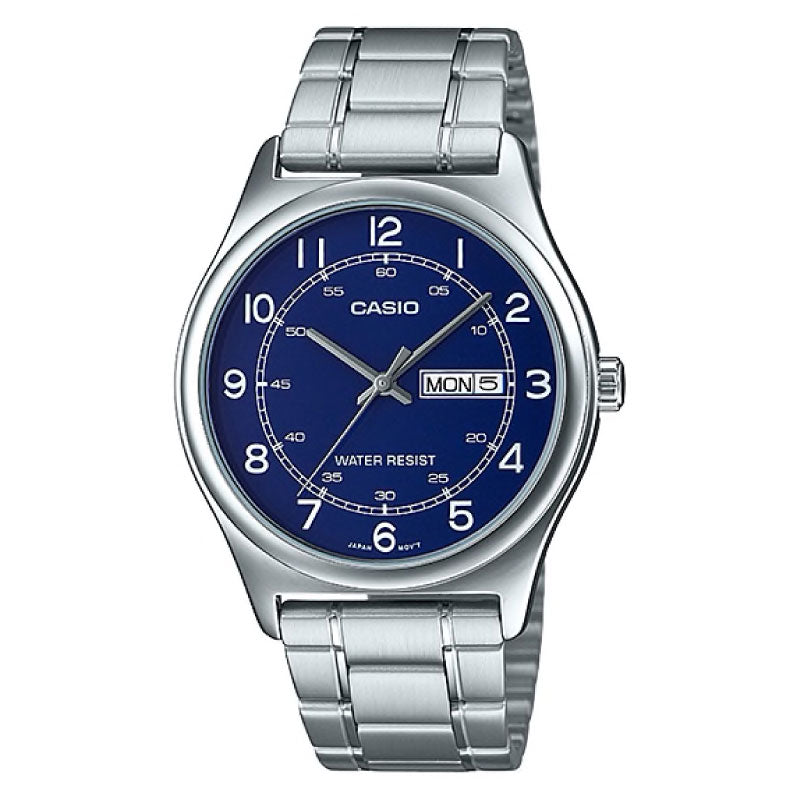Casio Men's Standard Analog Silver Stainless Steel Band Watch MTPV006D-2B MTP-V006D-2B