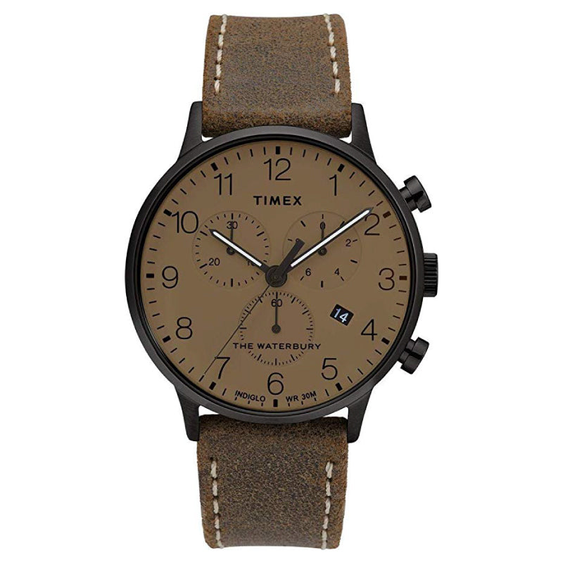 Timex Men's Waterbury Classic Chronograph 40mm Brown Black Watch TW2T28300