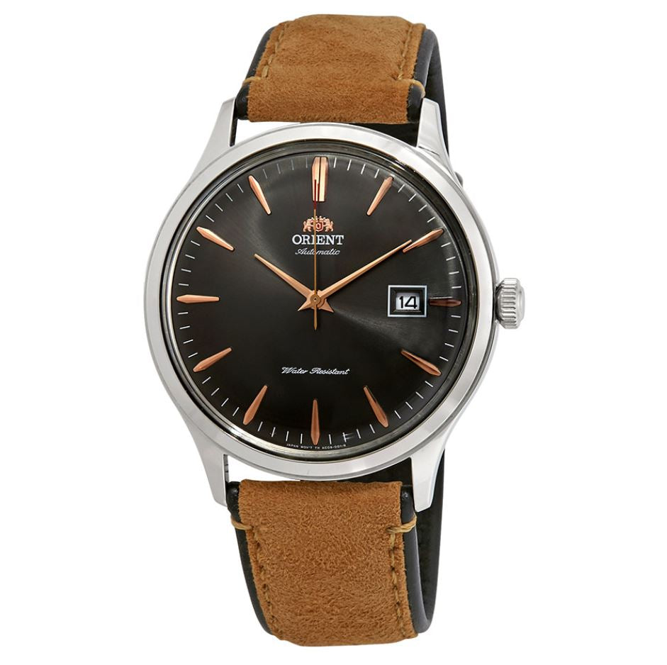 Orient Men's Bambino Version 4 Automatic Light Brown Leather Strap Watch FAC08003A0  | Watchspree