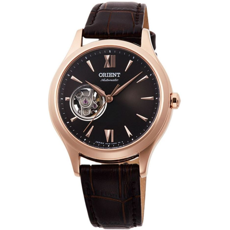 Orient Ladies' Open Heart Automatic Brown Leather Strap Watch RA-AG0023Y10B  | Watchspree