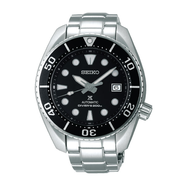 Seiko Prospex (Japan Made) Diver Automatic Silver Stainless Steel Band Watch SPB101J1