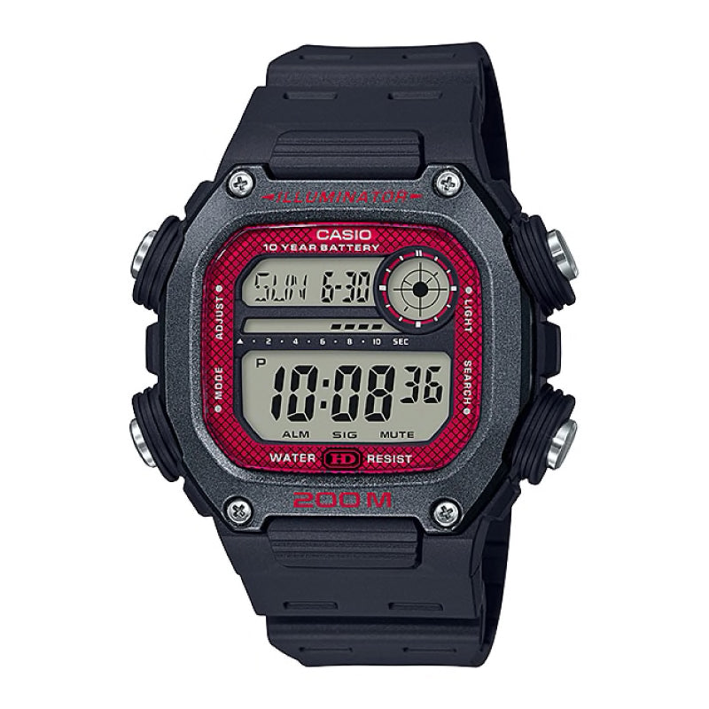 Casio Standard Digital Black Resin Band Watch DW291H-1B DW-291H-1B