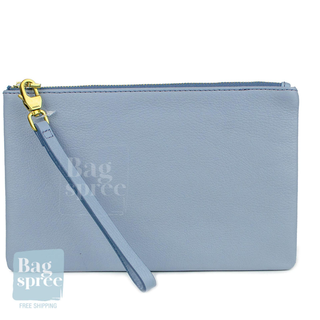 Fossil Horizon Blue Leather Wristlet Blue SLG1214436