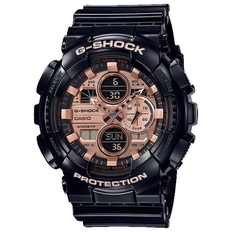 Casio G-Shock Special Color GA Series Black Resin Band Watch GA140GB-1A2 GA-140GB-1A2
