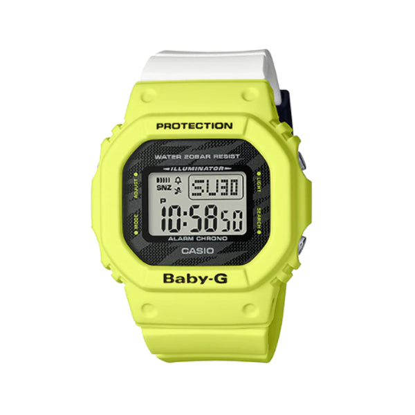 Casio Baby-G Popular Square Face BGD-560 Series Two Tone Resin Band Watch BGD560TG-9D BGD-560TG-9D BGD-560TG-9