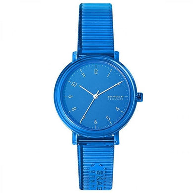Skagen Ladies's Quartz Blue Polyurethane Strap Watch SKW2855 | Watchspree