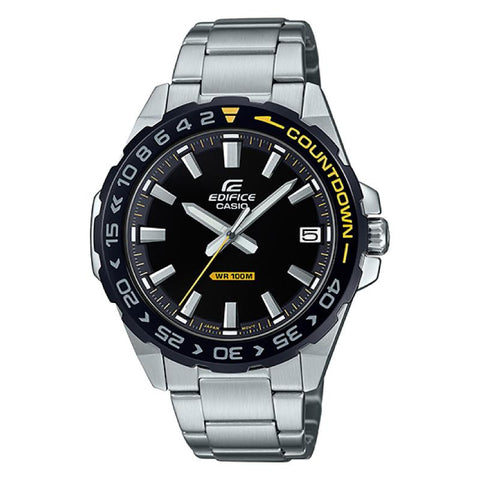 Casio Edifice Silver Stainless Steel Band Watch EFV120DB-1A EFV-120DB-1A | Watchspree
