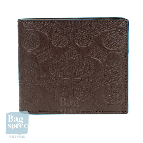 Coach Compact ID Wallet Brown F75371 MAH