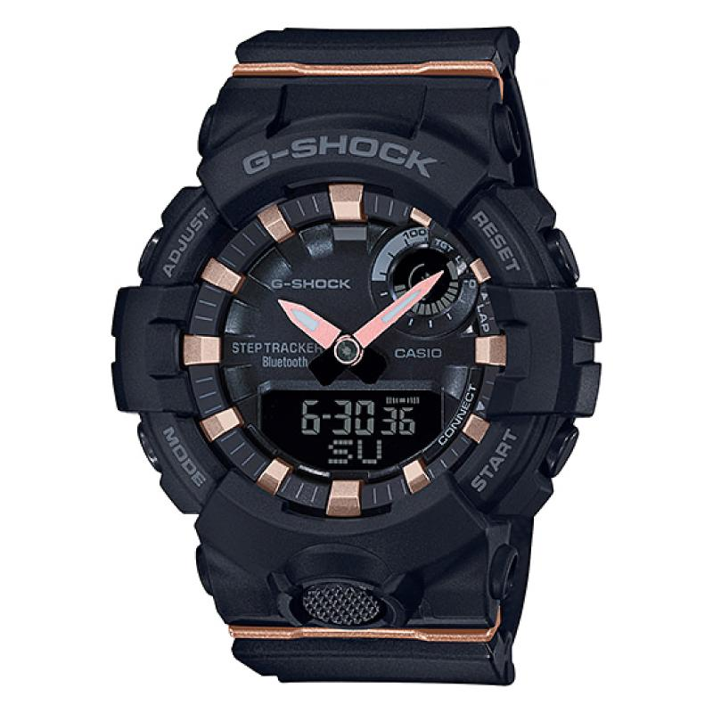 Casio G-Shock S Series G-Squad Bluetooth¨ Black Resin Band Watch GMAB800-1A GMA-B800-1A