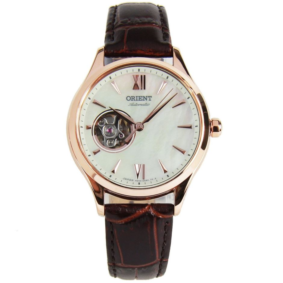 Orient Ladies' Open Heart Automatic Brown Leather Strap Watch RA-AG0022A10B  | Watchspree