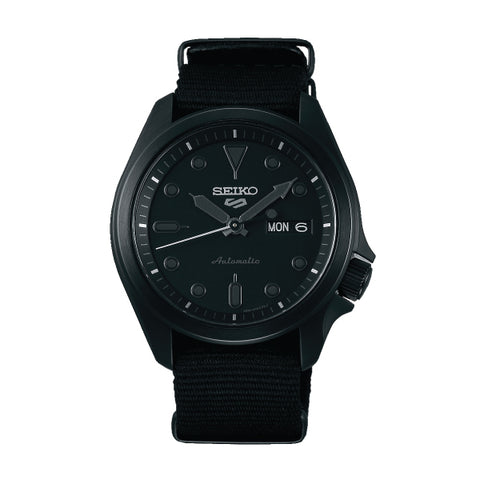 Seiko 5 Sports Automatic Black Nylon Strap Watch SRPE69K1