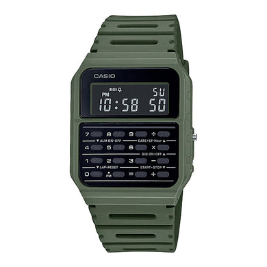Casio Data Bank Calculator Green Resin Band Watch CA53WF-3B CA-53WF-3B