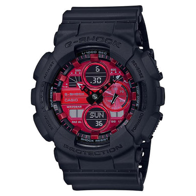 Casio G-Shock GA-140 Lineup Special Color Models Black Resin Band Watch GA140AR-1A GA-140AR-1A