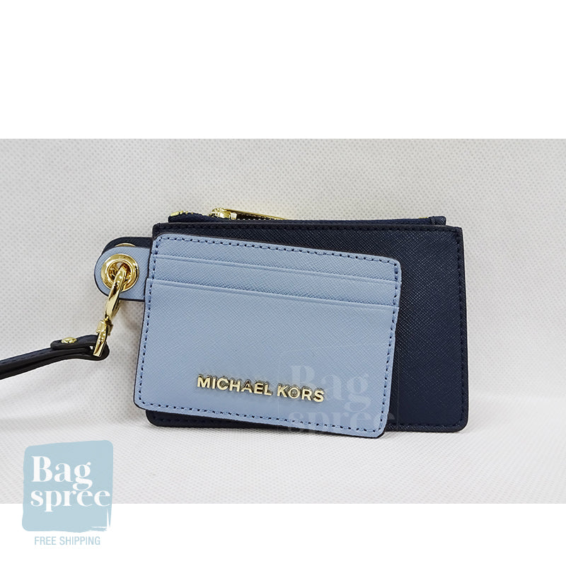 Michael Kors Giftables Small Card Case Duo Blue 35H9GGFD5T PWDR BLU MLT