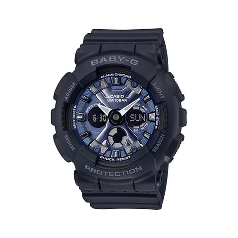 Casio Baby-G Standard Analog-Digital BA-130 Brilliantly Series Black Resin Band Watch BA130-1A2 BA-130-1A2