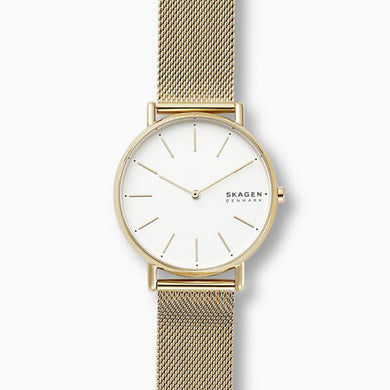 Skagen Ladies' Signature Gold Tone Steel Mesh Watch SKW2795