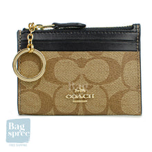 Load image into Gallery viewer, Coach Mini Skinny ID Case Brown, Black F88208 IMCBI