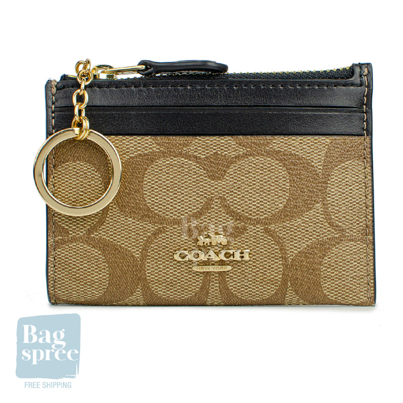 Coach Mini Skinny ID Case Brown, Black F88208 IMCBI