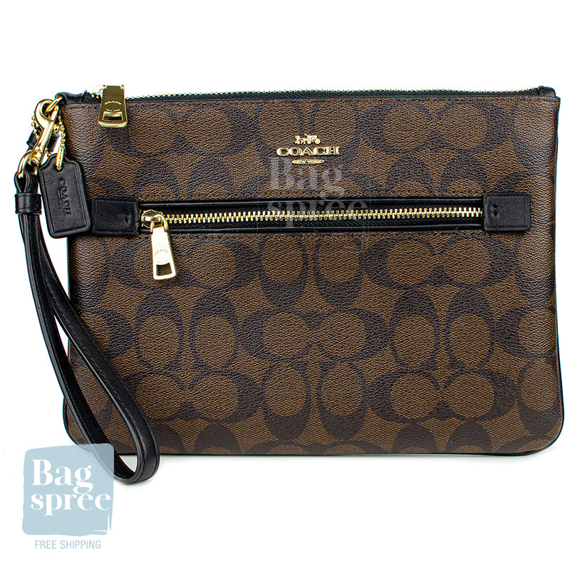 Coach Gallery Pouch Brown F79896 IMAA8