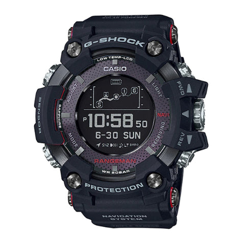 Casio G-Shock Master of G Rangeman Carbon Fiber Insert Black Resin Band Watch GPRB1000-1D GPR-B1000-1
