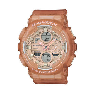 Casio G-Shock S Series for Ladies' GA-140 Lineup Semi-Transparent Beige Resin Band Watch GMAS140NC-5A1 GMA-S140NC-5A1