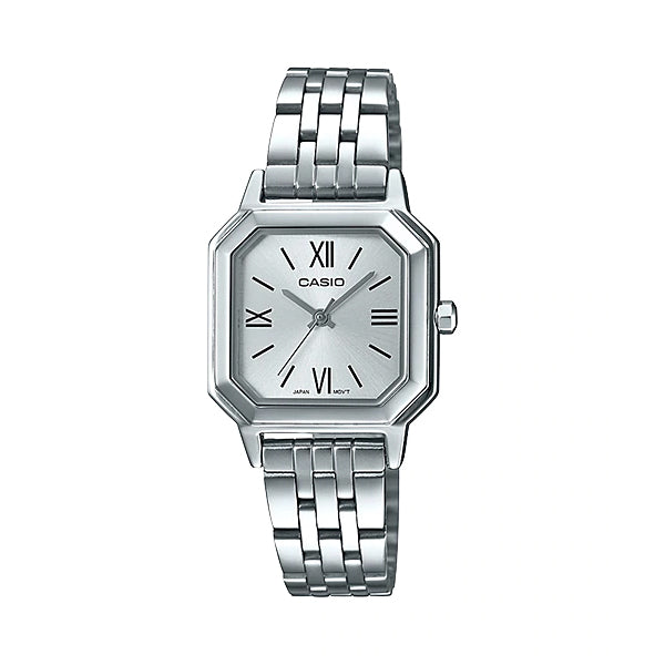 Casio Ladies' Analog Stainless Steel Band Watch LTPE169D-7B LTP-E169D-7B