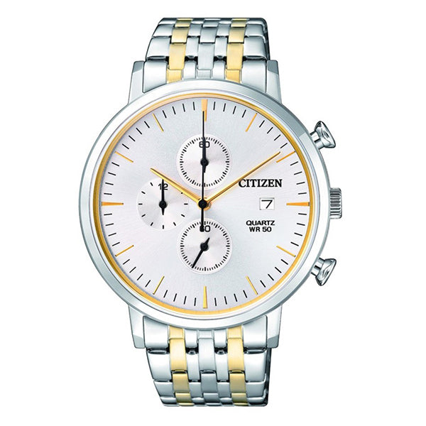 Citizen Automatic Chronograph Two-Tone Stainless Steel Band Watch AN3614-54A