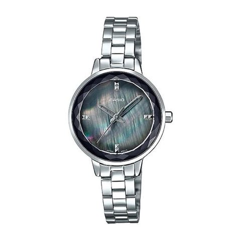 Casio Ladies' Analog Silver Stainless Steel Band Watch LTPE162D-1A LTP-E162D-1A | Watchspree