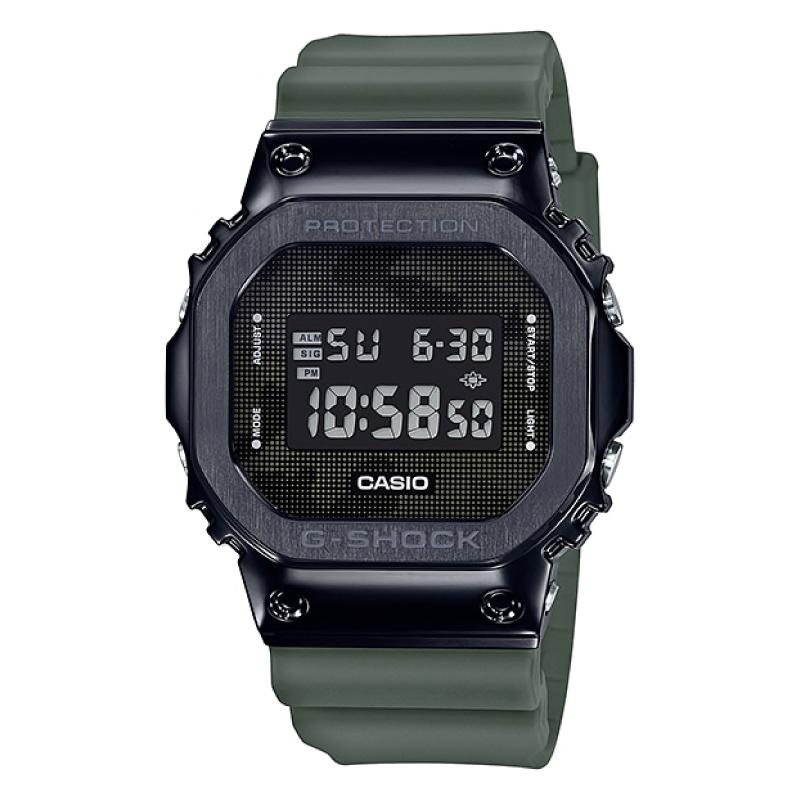 Casio G-Shock Standard Square-Faced Digital Green Resin Band Watch GM5600B-3D GM-5600B-3D GM-5600B-3