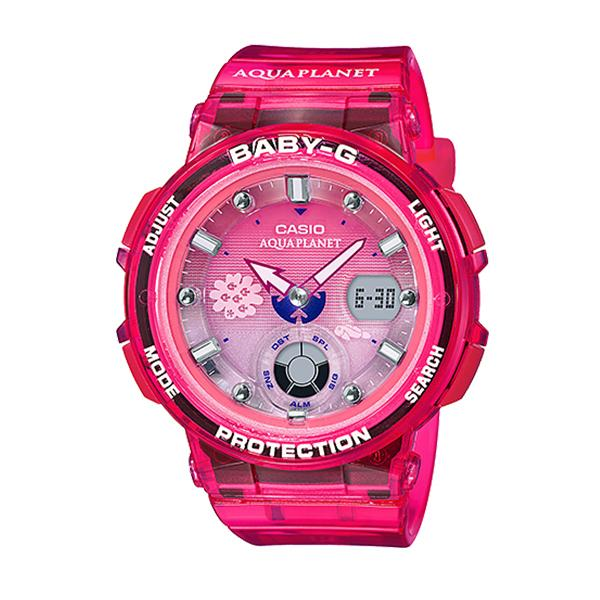 Casio Baby-G Aqua Planet Collaboration Model Pink Resin Band Watch BGA250AQ-4A BGA-250AQ-4A | Watchspree